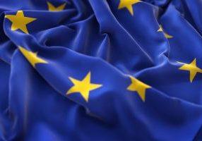 Bandera Europea ondeando